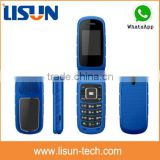 "1.77"" quad band Gsm Gprs flip cell phone dual sim card with camera whatsapp made in China low price"