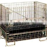 Foldable and stackable metal steel storage galvanized wire box