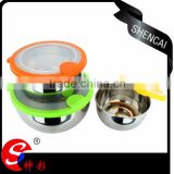 Home garden tableware series keep food fresh stainless steel container food bowl for picnic party