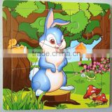 Wooden lucky rabbit puzzles, 12 animals (Chinese zodiac) puzzles, educational puzzles, wooden Jigsaw puzzles,