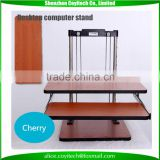 Adjustable laboratory stand work stand sit stand desk to workstation for monitor and laptops