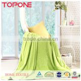 Solid color warm cheap home textile organic blanket baby