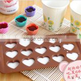 100% FDA silicone heart shape silicone chocolate molds chocolate maker Online selling silicone cake molds