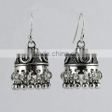 Make A Wish ! Rava Work Oxidized Jhumka 925 Sterling, Online Silver Jewellery, Fine Silver Jewellery