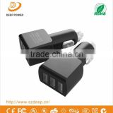 Specifically Designed 3 Port PC ABS 12V Car Battery Charger For Mobile Phone