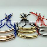 wholesale stainless steel expandable bangle women wire adjustable bracelet