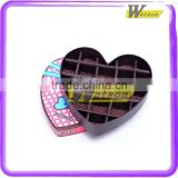 Romantic heart shape chocolate paper gift box , paper box gift box packaging box for homemade