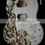 UNFINISHED PROJECT ELECTRIC GUITAR BUILDER WITH SKULL BODY(K43)