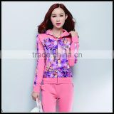 Fashion digital printing tracksuit, custom design tracksuit , sports trak suit women