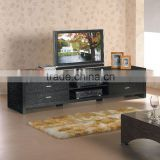 black ash colour lcd tv cabinet wooden design TY120