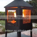 Large steel outdoor villa fireplace with high temperature painted