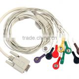 Hot sale 12 lead holter ecg cable