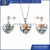 ERJS0145 blue enamel red murano glass cute heavy kundan jewelry set