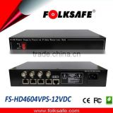Folksafe 4 8 16 ports HDTVI AHD CVI CVBS Video Power Receiver Hub with CE FCC RoHS wholesale price
