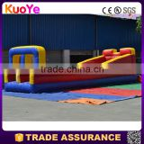 factory direct durable two lanes inflatable bungee run,inflatable sport games for adults