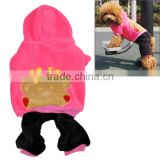 2 Style New Good Quality Warm Fleece Pet Dog Clothes Hat Coat Hoodie Jumpsuit S/ M/ L/ XL 7902