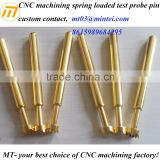 CNC machining gold-plated brass electric plug contact pin