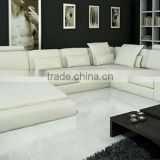 Modern Sofa luxury large siz LIGHT U shaped Corner Genuine leather Sofa replica designer furniture 9107-14