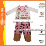 cheap new born baby clothing set ,girls fancy clothes ,print clothing set