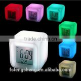 RGB Color changing cube clock- digital alarm clock LED night with Celander Function                                                                         Quality Choice                                                                     Supplier's C