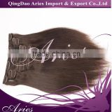 2016 Best selling clip in hair extensions wholesale no shedding remy human hair full cuticle