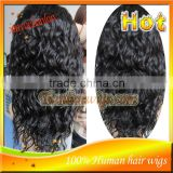 2014 Cheap Malaysian Virgin Human Hair Full Lace Wigs With Baby Hair For Black Women In Stock
