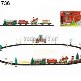 Wholesale Rail train toys Christmas Classic train/track,B/O railway toy set (49pcs) with light