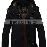Warm Jackets Parka Outerwear Fur lined Winter thicken Long Coat Hooded mens jackets