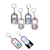 Hot Sales Bottle Opener Plastic Led Light Keychain For Promotion Gifts