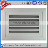 Aluminum ventilation door grille
