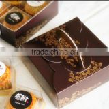 Baking moon cake box wholesale Mid-Autumn black and gold boxes portable tin box cake box