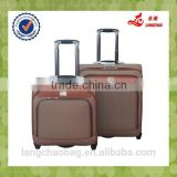 Business Type PU Material Aluminum Trolley High Quality Wheel Popular Design Light Weight Real Boarding Luggage
