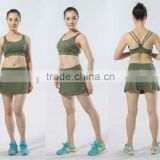 LADY'S SEXY TENNIS SKIRT TENNIS DRESS FASHIONABLE SPORT BRA