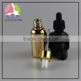 trade assurance Hot sales! french square red 30ml glass dropper bottle for syrup with childroof&stamper cap for e liquid