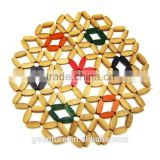 Bamboo Placemat Table Mat Color Coaster