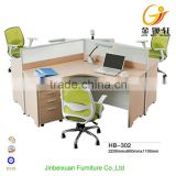 Office furniture desk design workstation for 3 person