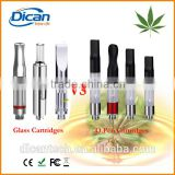 Hot sale cbd vaporizer cartridge ceramic 510 dual coil glass tank vape 0.5ml cartridge refillable