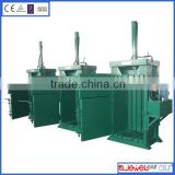 Portable hydraulic baler for plastic
