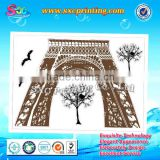 Laser cutting acrylic wall mirror sticker, acrylic flower mirror wall stickers, acrylic wall mirror stickers