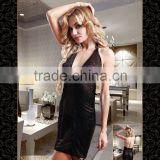 Temptlife Brand TL2207A 2016 new sexy lingerie bodystocking black sexy hip Transparent backless dress deep v neck