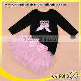 crown pink romper skirt wholesale baby girl clothes set                                                                         Quality Choice