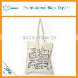 Custom logo print standed size shopping blank tote bag cotton canvas                                                                                                         Supplier's Choice