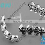 4 Skulls internal thread ear tragus studs piercing