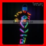 Wireless DMX512 robot suit LED, Luminous LED Clothes, Dancewear LED Suits
