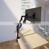 dual monitor arm swivel lcd dual monitor mount adjustable gas spring monitor desk mounts hanging lcd monitor arm