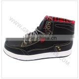 High top sneakers leather upper rubber sole men sneakers