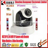 HD720P H.264 WIFI IP Camera with Remote Video Monitor & Video Recording