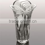 high quality clear crystal glass vase