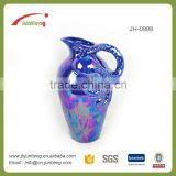 home & garden blue octopus ceramic pictures of antique vases, teapot ceramic flower vase with handle