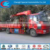China made lift truck high performance mounted crane FAW 4x2 Good quality mini mobile crane
